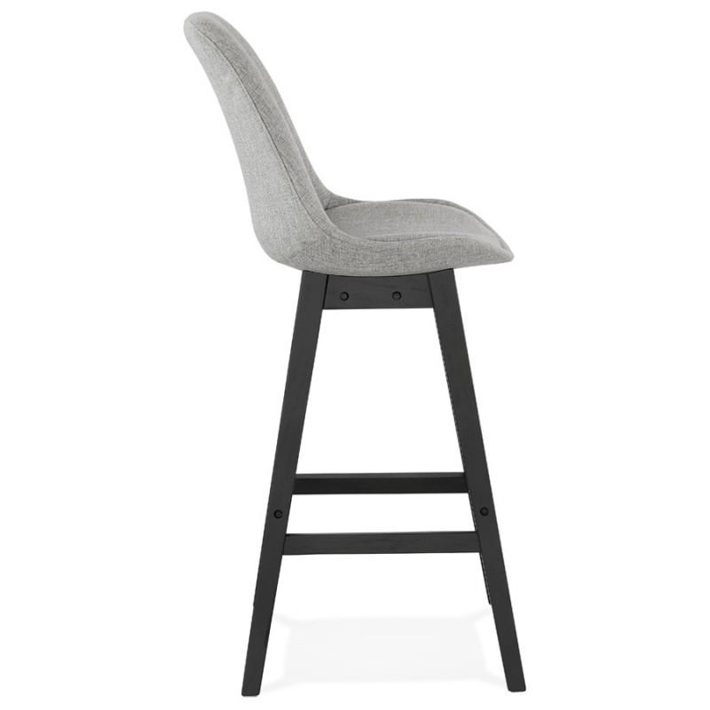 Tabouret de bar chaise de bar pieds noirs ILDA (gris clair) - image 46337