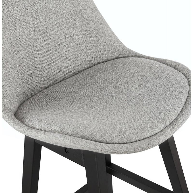 Tabouret de bar chaise de bar pieds noirs ILDA (gris clair) - image 46340