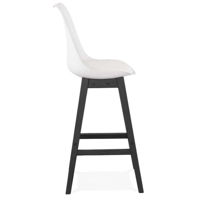 Tabouret de bar chaise de bar pieds noirs DYLAN (blanc) - image 46355