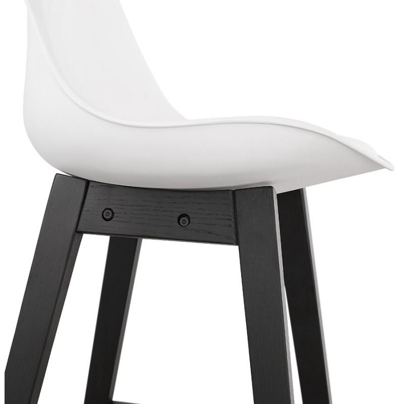 Tabouret de bar chaise de bar pieds noirs DYLAN (blanc) - image 46360