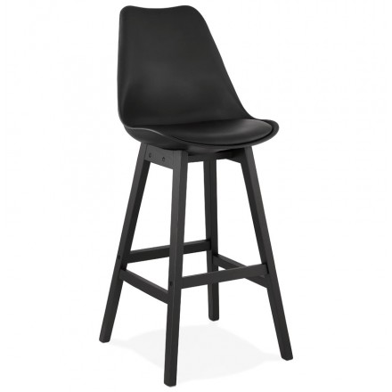 Barhocker Barstuhl schwarze Füße DYLAN (schwarz)