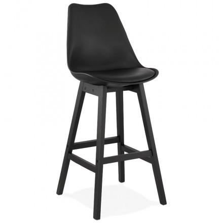 Taburete de bar silla de bar pies negros DYLAN (negro)