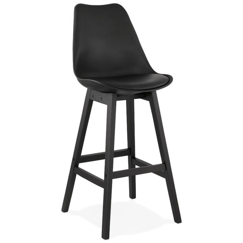 Tabouret de bar chaise de bar pieds noirs DYLAN (noir) - image 46362