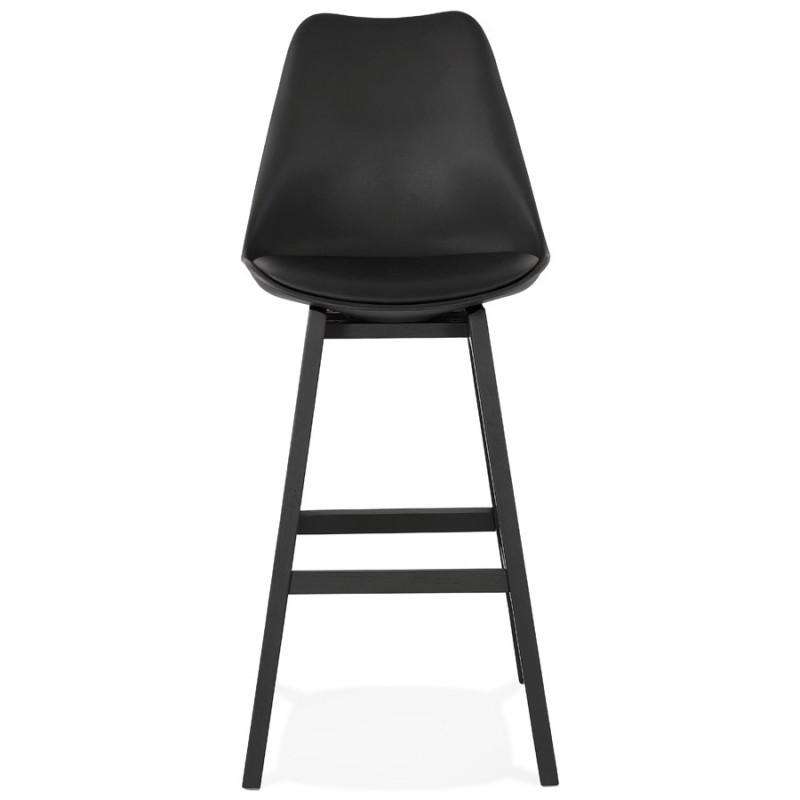 Tabouret de bar chaise de bar pieds noirs DYLAN (noir) - image 46363