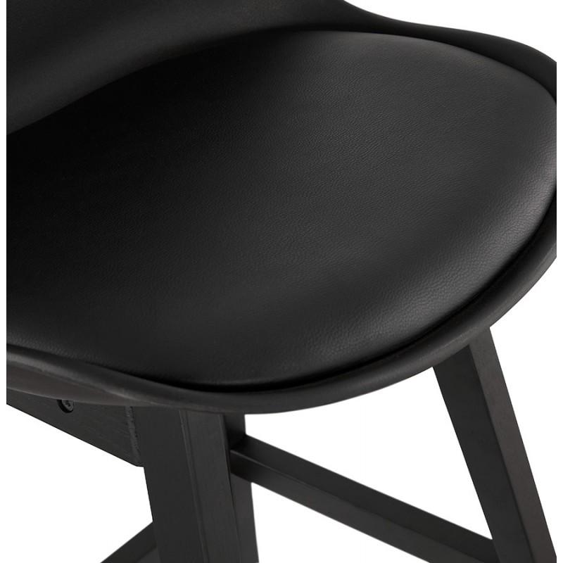 Tabouret de bar chaise de bar pieds noirs DYLAN (noir) - image 46368