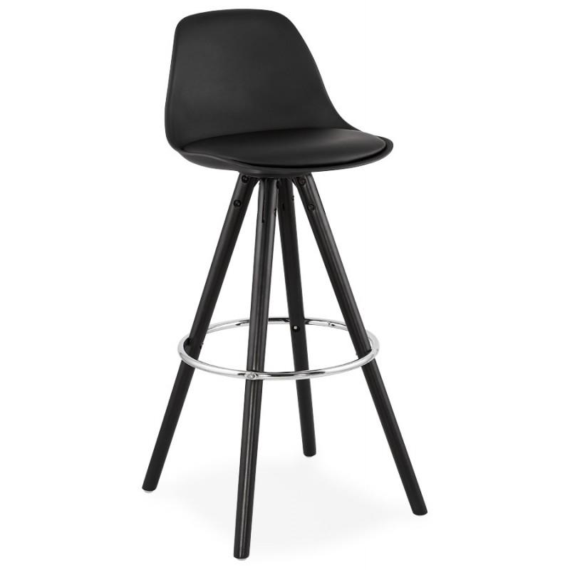 Tabouret de bar chaise de bar design pieds noirs OCTAVE (noir) - image 46383