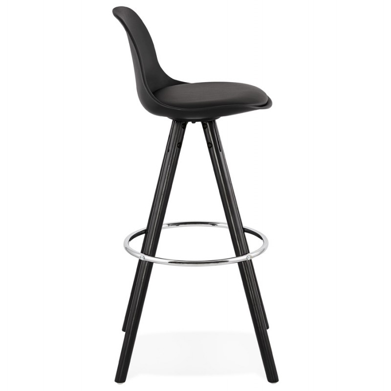 Tabouret de bar chaise de bar design pieds noirs OCTAVE (noir) - image 46385