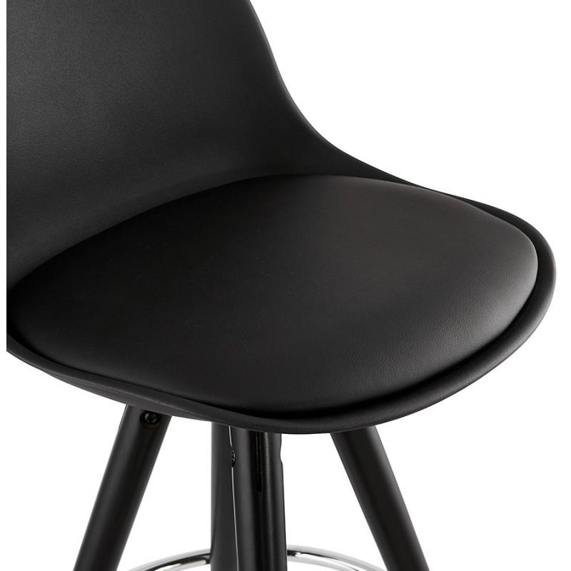 Tabouret de bar chaise de bar design pieds noirs OCTAVE (noir) - image 46389