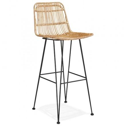 BAR bar snuff bar chair in black feet PRETTY (natural)