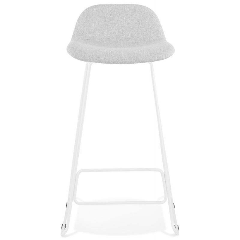 Tabouret de bar chaise de bar en tissu pieds métal blanc CUTIE (gris clair) - image 46426
