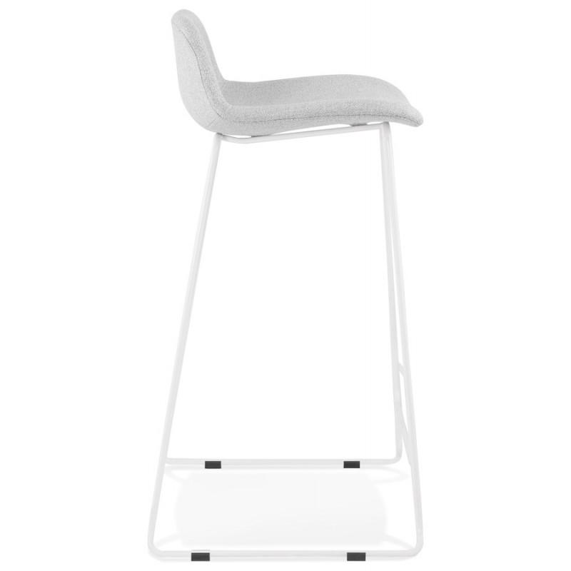 Tabouret de bar chaise de bar en tissu pieds métal blanc CUTIE (gris clair) - image 46427