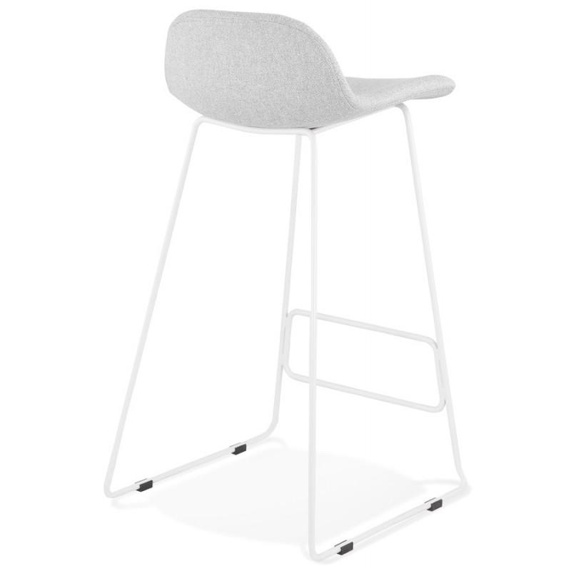 Tabouret de bar chaise de bar en tissu pieds métal blanc CUTIE (gris clair) - image 46428