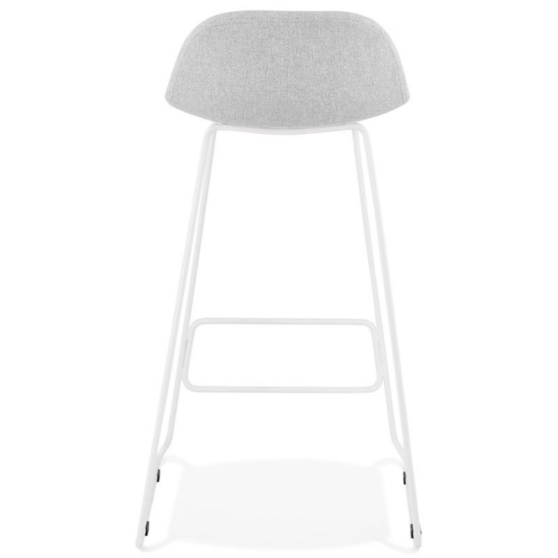 Tabouret de bar chaise de bar en tissu pieds métal blanc CUTIE (gris clair) - image 46429