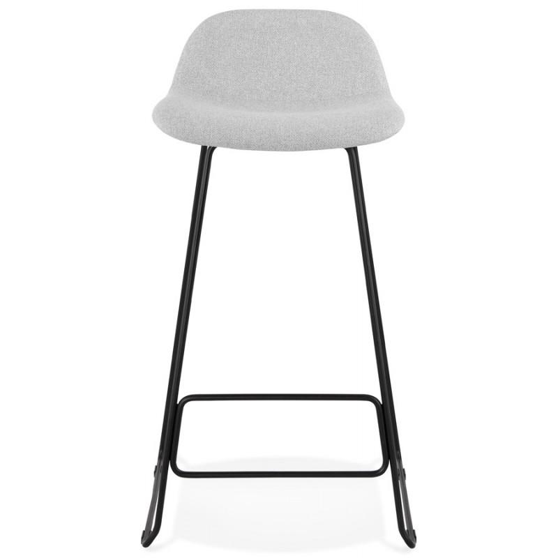Tabouret de bar chaise de bar industriel en tissu pieds métal noir CUTIE (gris clair) - image 46448