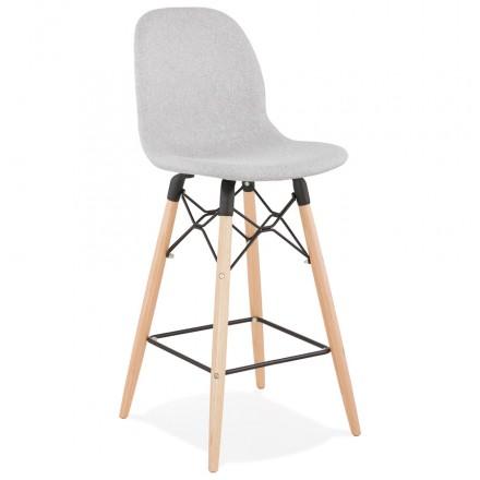 Bar bar snuff bar sedia scandinava tessuto scandinavo a mezza altezza PAOLO MINI (grigio chiaro)