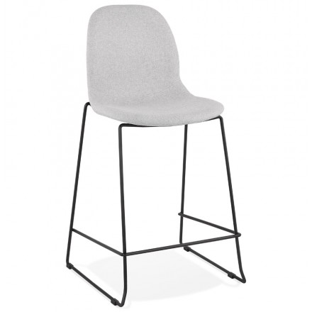 Bar bar snuff bar chair mid-height design stackable in fabric DOLY MINI (light grey)