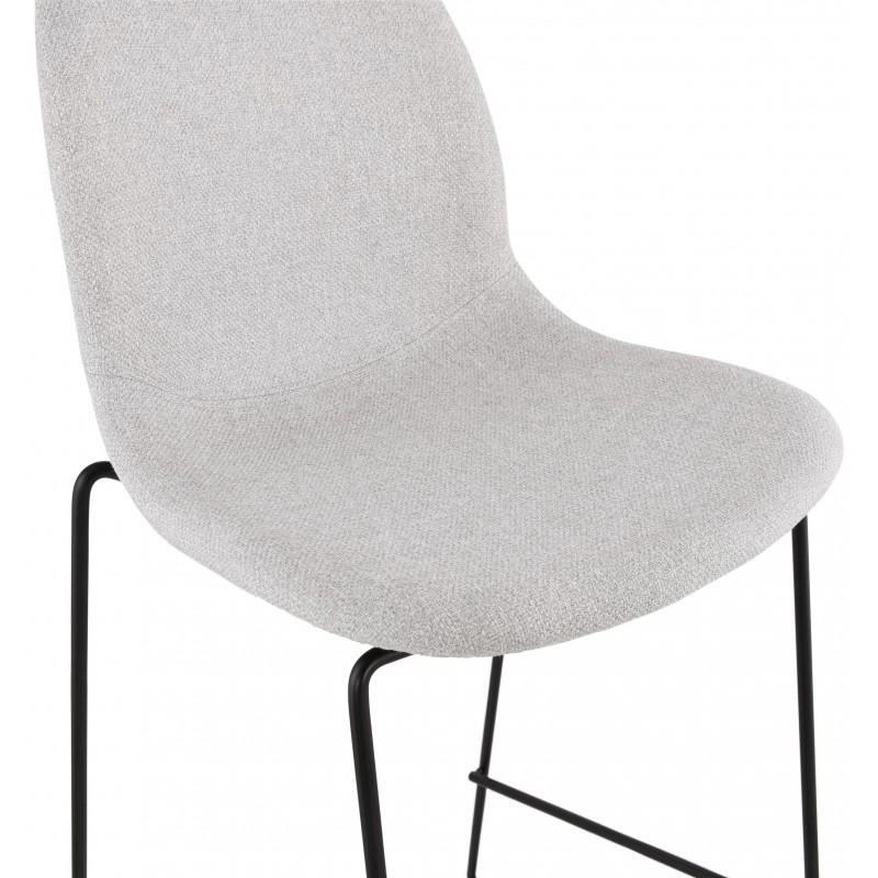 Tabouret de bar chaise de bar mi-hauteur design empilable en tissu DOLY MINI (gris clair) - image 46532