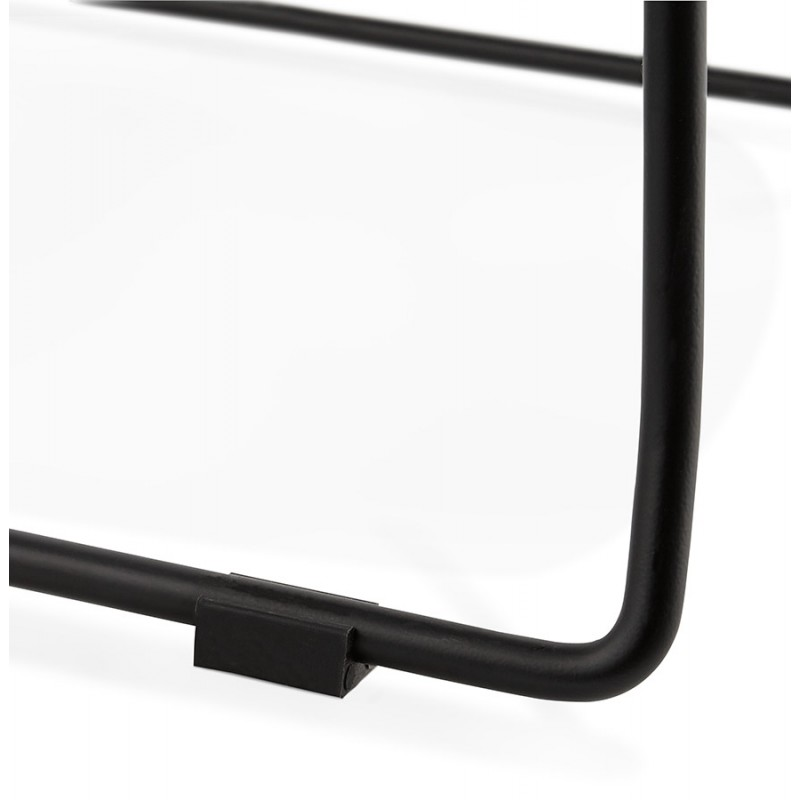 Bar bar snuff bar sedia a metà altezza design impilabile in tessuto DOLY MINI (grigio chiaro) - image 46537