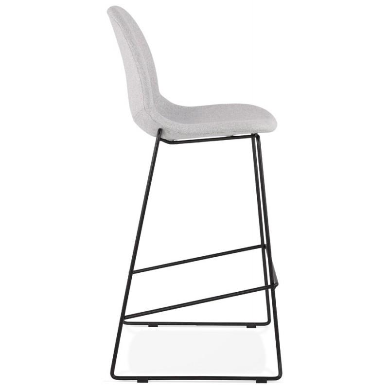 Stapelbarer Barstuhl im Barhockerdesign aus Stoff DOLY (hellgrau) - image 46540