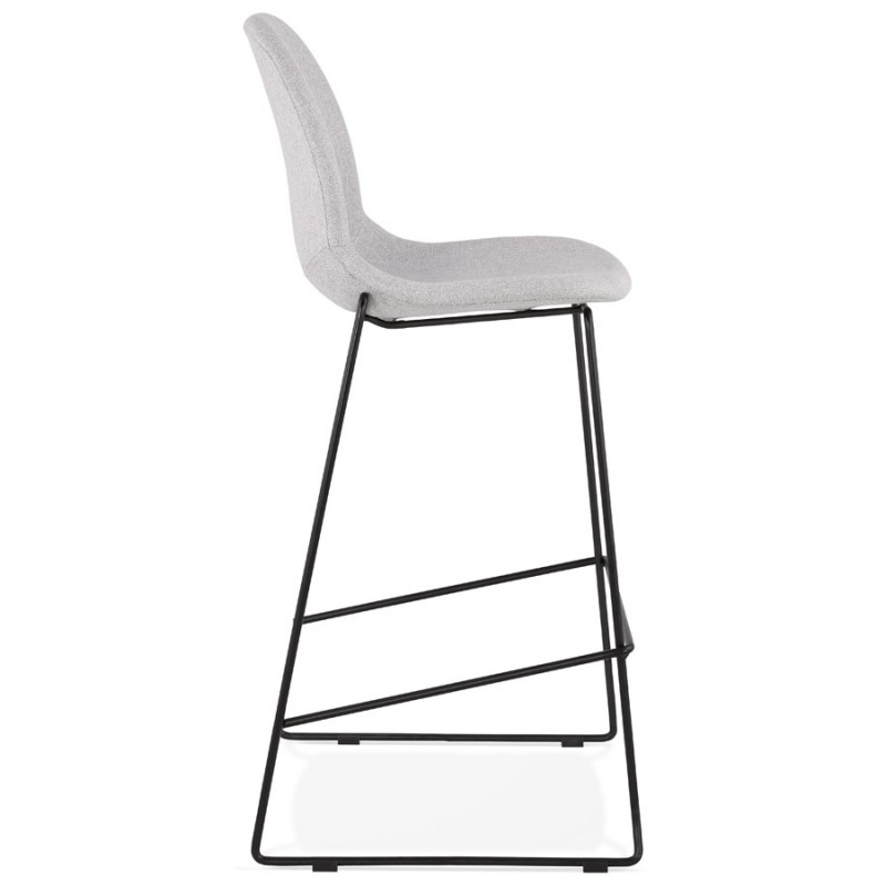 Tabouret de bar chaise de bar design empilable en tissu DOLY (gris clair) - image 46540