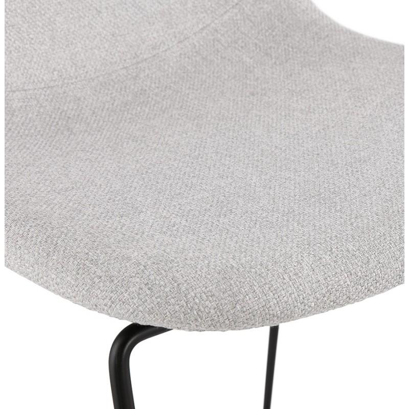 Sedia impilabile da bar design sgabello da bar in tessuto DOLY (grigio chiaro) - image 46544