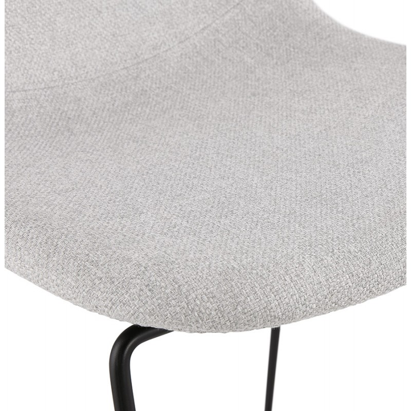 Tabouret de bar chaise de bar design empilable en tissu DOLY (gris clair) - image 46544