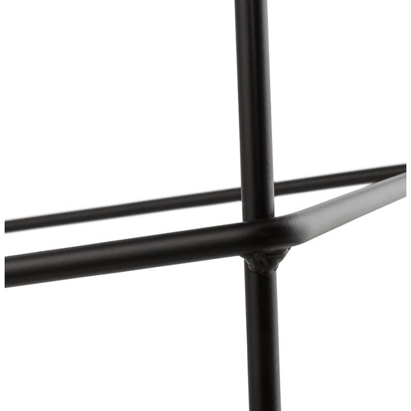 Stapelbarer Barstuhl im Barhockerdesign aus Stoff DOLY (hellgrau) - image 46546