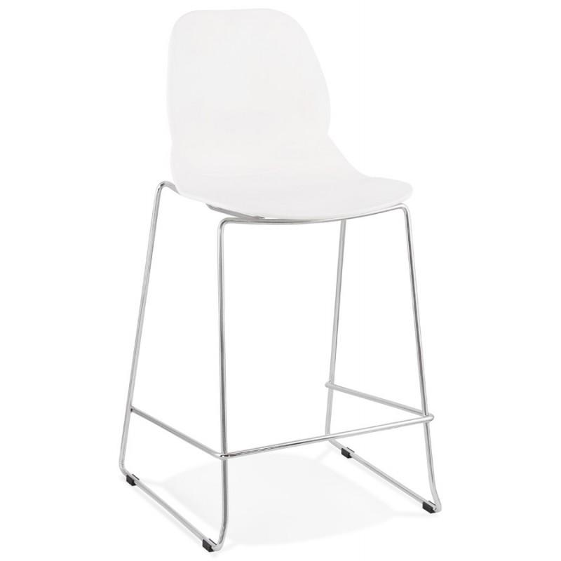 Bar bar set bar bar sedia mezza altezza design impilabile JULIETTE MINI (bianco)