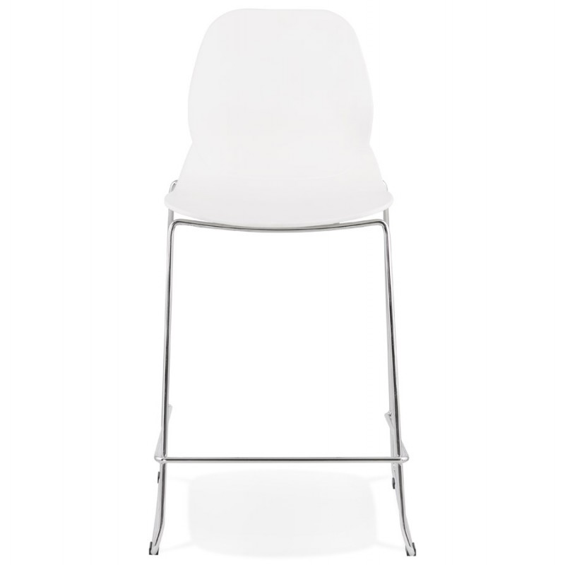 Bar bar set bar bar chair half-height stackable design JULIETTE MINI (white) - image 46550