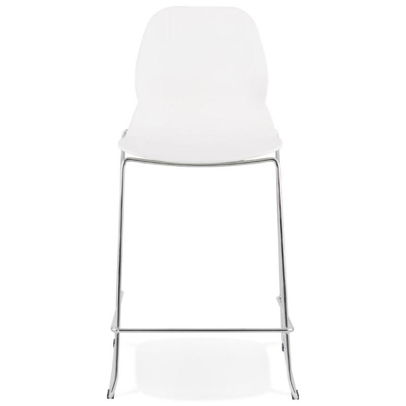 Tabouret de bar chaise de bar mi-hauteur design empilable JULIETTE MINI (blanc) - image 46550