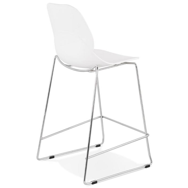 Tabouret de bar chaise de bar mi-hauteur design empilable JULIETTE MINI (blanc) - image 46552