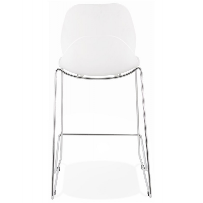 Bar bar set bar bar chair half-height stackable design JULIETTE MINI (white) - image 46553
