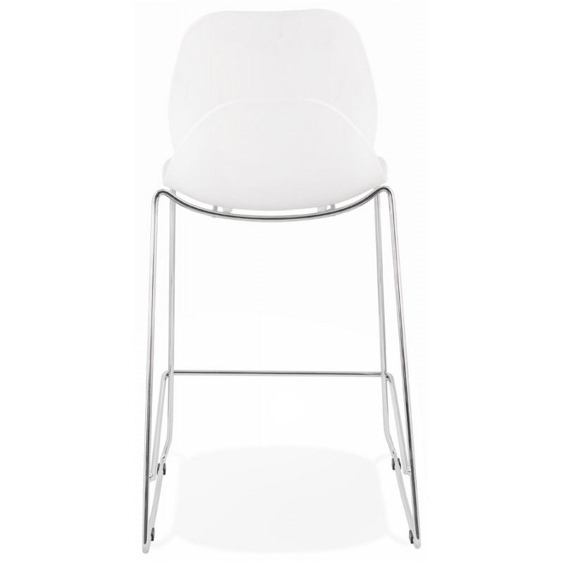 Tabouret de bar chaise de bar mi-hauteur design empilable JULIETTE MINI (blanc) - image 46553