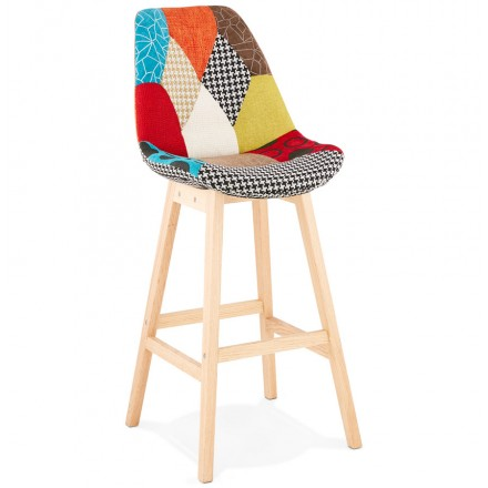 Bohemian patchwork bar chair bar stool in MAGIC fabric (multicolor)