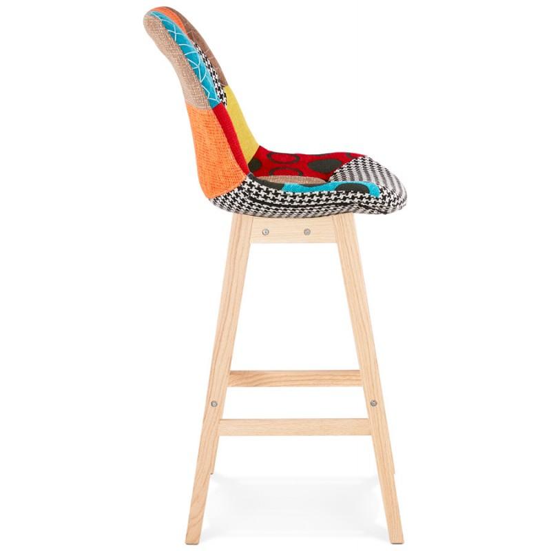 Tabouret de bar chaise de bar bohème patchwork en tissu MAGIC (multicolore) - image 46646