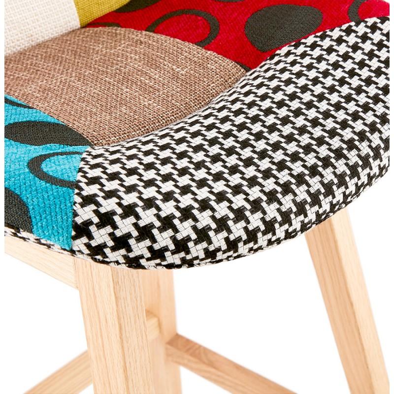 Tabouret de bar chaise de bar bohème patchwork en tissu MAGIC (multicolore) - image 46650