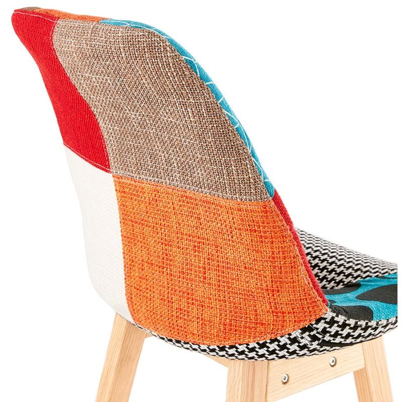 Tabouret de bar chaise de bar bohème patchwork en tissu MAGIC (multicolore) - image 46652