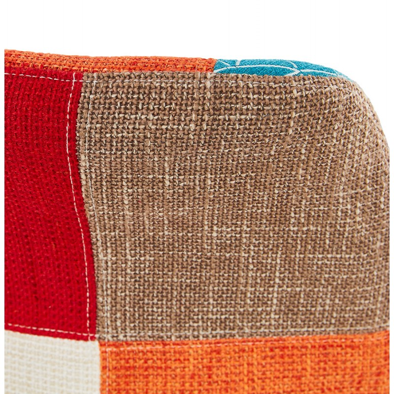 Sgabello da bar bohemien patchwork in tessuto MAGIC (multicolore) - image 46653