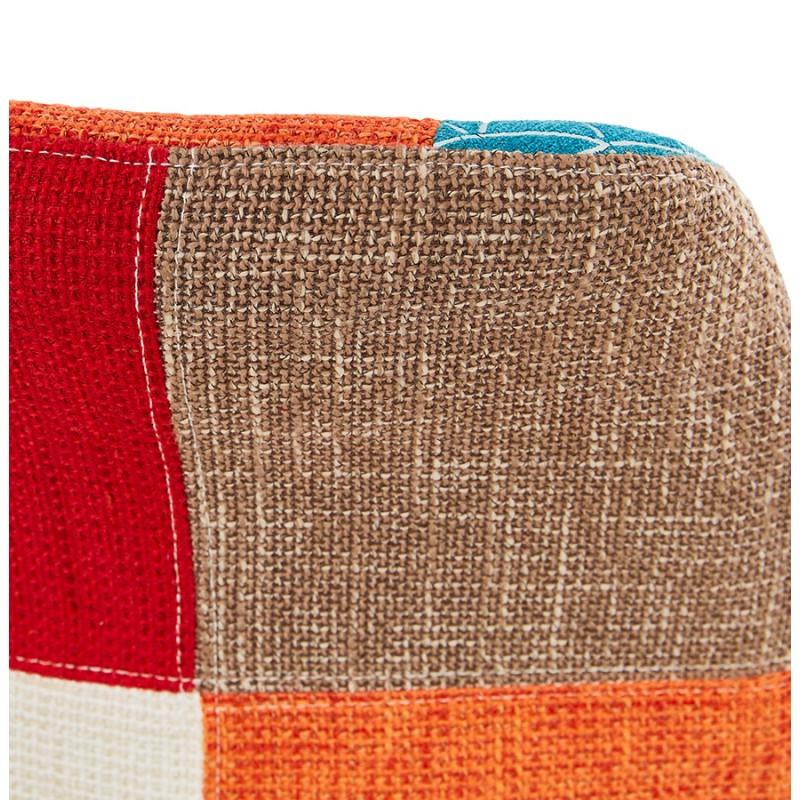 Tabouret de bar chaise de bar bohème patchwork en tissu MAGIC (multicolore) - image 46653