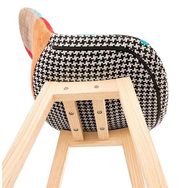 Tabouret de bar chaise de bar bohème patchwork en tissu MAGIC (multicolore) - image 46656