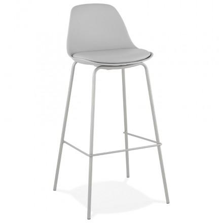 Taburete de bar silla de bar industrial con patas de color gris claro OCEANE (gris claro)