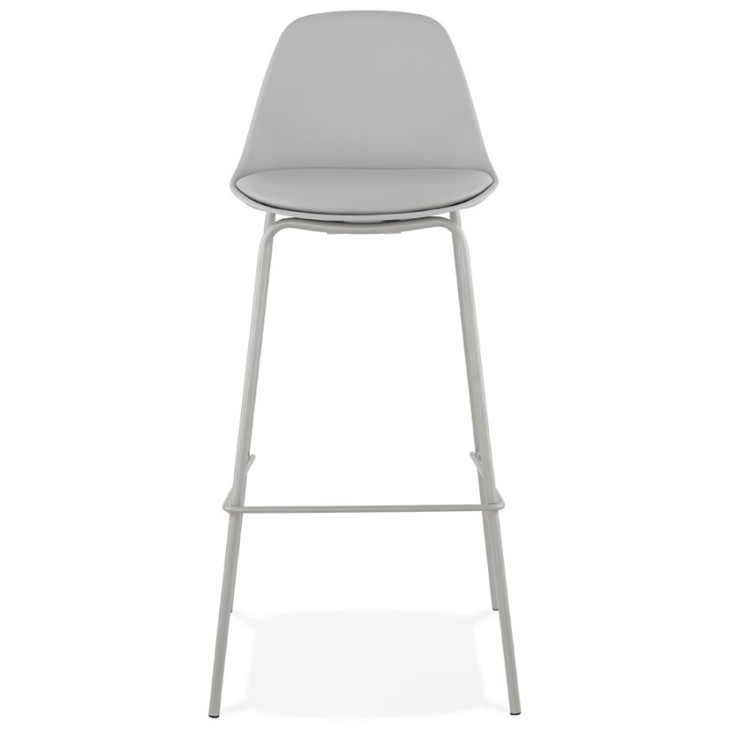 Bar stool industrial bar chair with light gray legs OCEANE (light gray) - image 46675