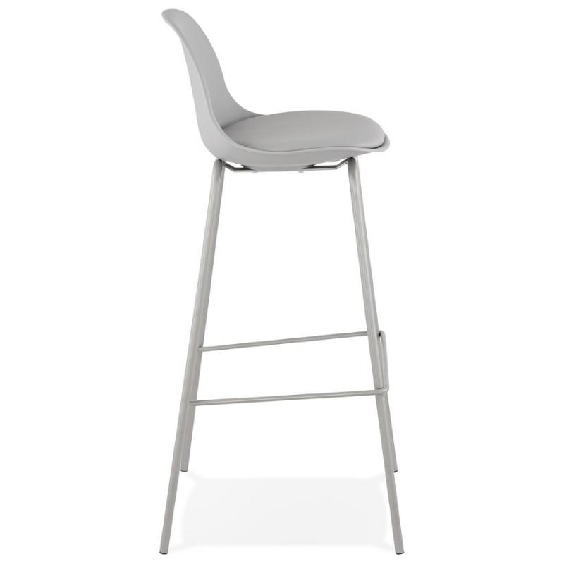 Bar stool industrial bar chair with light gray legs OCEANE (light gray) - image 46676