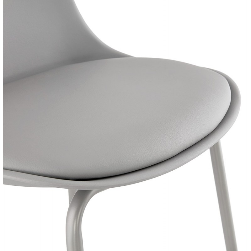 Bar stool industrial bar chair with light gray legs OCEANE (light gray) - image 46680
