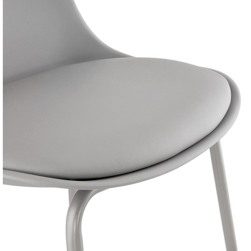 Tabouret de bar chaise de bar industriel pieds gris clair OCEANE (gris clair) - image 46680