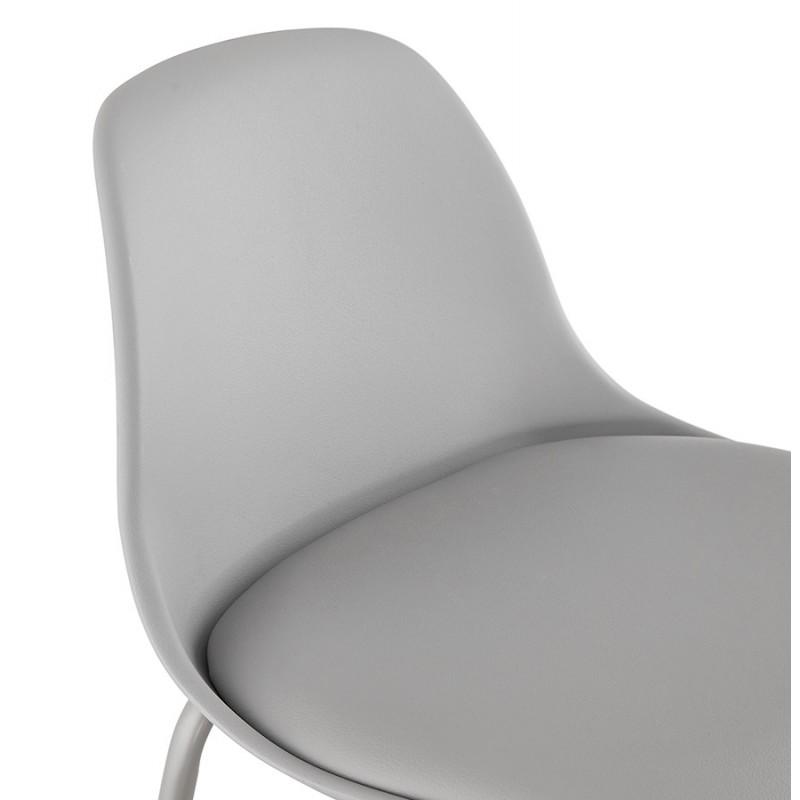 Bar stool industrial bar chair with light gray legs OCEANE (light gray) - image 46681