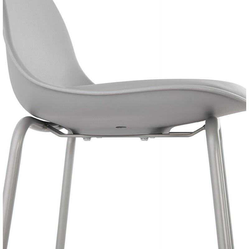 Bar stool industrial bar chair with light gray legs OCEANE (light gray) - image 46683