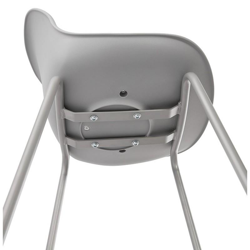Bar stool industrial bar chair with light gray legs OCEANE (light gray) - image 46685