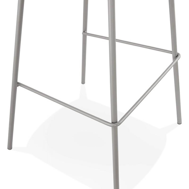 Bar stool industrial bar chair with light gray legs OCEANE (light gray) - image 46686