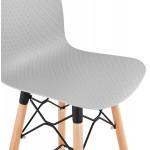 Fairy Taburete de barra de diseño escandinavo (gris claro)
